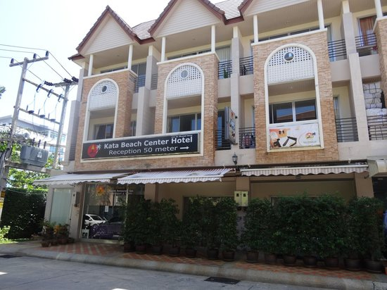 Kata Beach Center Hotel:                                     The reception is at 50 m in the street