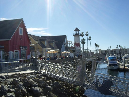 Harbor Fish and Chips :                   View of buildings on pier