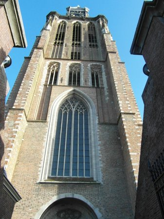 The entrance of the Grote Kerk