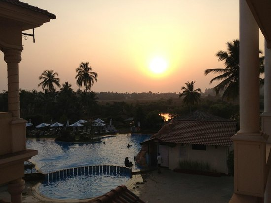 The Village Square:                   sunset over baga beach