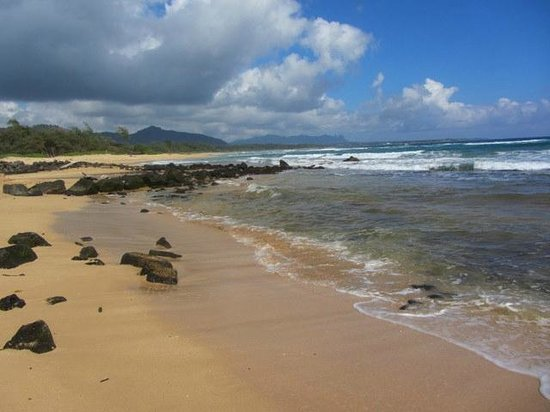 Kauai Beach Resort:                   Adjacent Beach - great for a barefoot walk