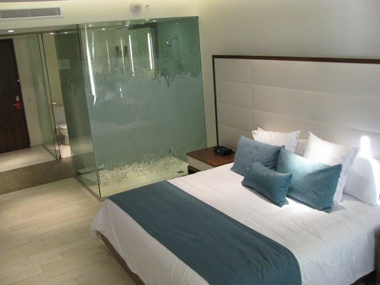 Secrets The Vine Cancún:                                     Room, Note the see thru shower
