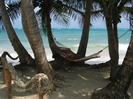 Little Corn Beach and Bungalow:                   Hammock -- obviously