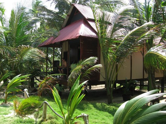 Little Corn Beach and Bungalow:                   our bungalow