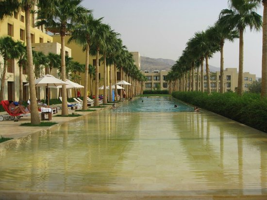 Kempinski Hotel Ishtar Dead Sea:                   View from my hotel room - one of the pools