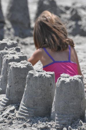 Surrounded by Sand Castles on the Wildwoods Beach