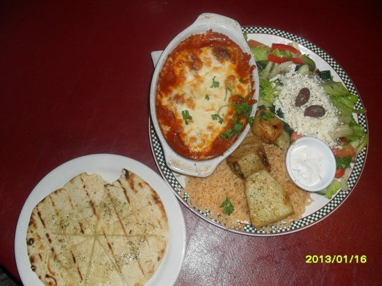 It's All Greek To Me: SAGANAKI KEFTEDES:greek meatballs,tomato sauce,sizzling cheese,with pita !