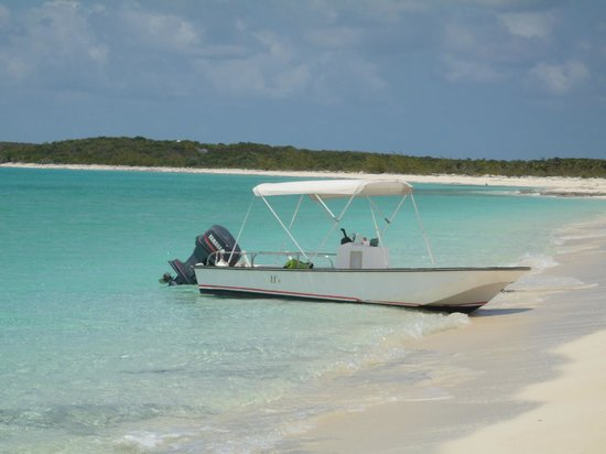 Staniel Cay Yacht Club:                                     no one in sight - perfect