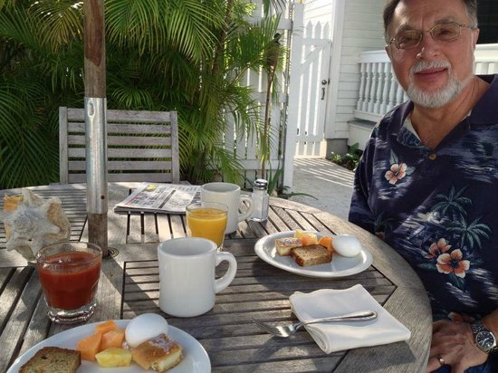 The Conch House Heritage Inn:                   morning breakfast