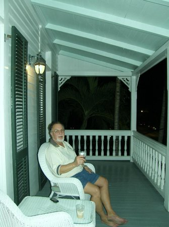 The Conch House Heritage Inn:                   enjoying our balcony