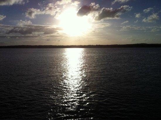 o Pôr do Sol na praia do Jacaré