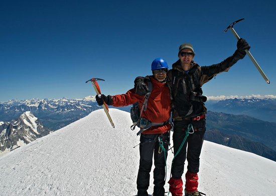 ‪‪Mont Blanc‬: Summit of Mont Blanc, 4810 m.‬