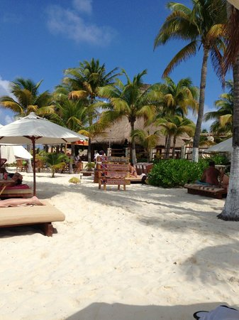 Na Balam Beach Hotel:                   the restaurant from the beach