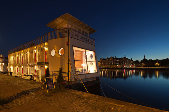 Cphliving floating hotel by night