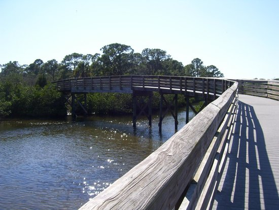 Ann Dever Memorial Regional Park:                   walking path/bridge at Ann Dever Park
