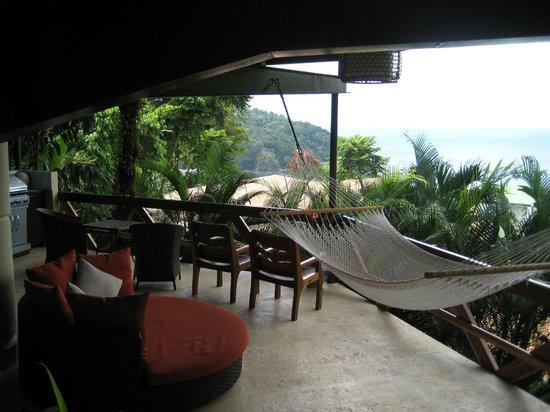 Tulemar Bungalows & Villas:                                     Villa Mot Mot (lower) patio