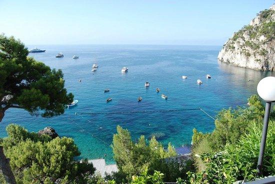Hotel Weber Ambassador Capri:                   Marina Piccola view from our room