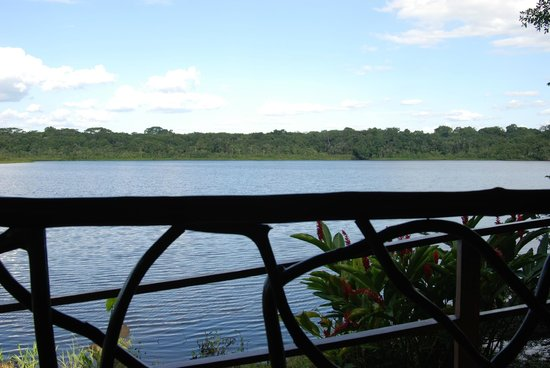 Napo Wildlife Centre:                   View from the porch