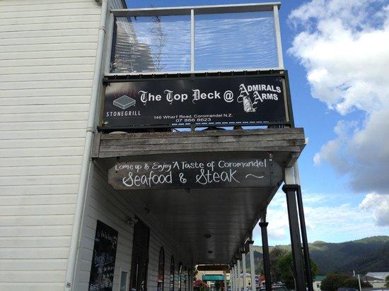 Admirals Restaurant:                   Outside signs