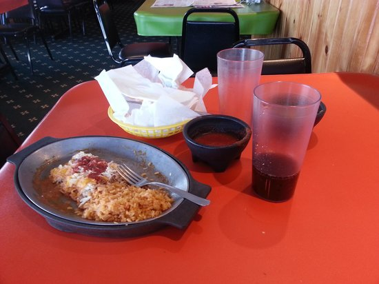 Lupe's Mexican Restaurant:                                     The aftermath of my enchiladas