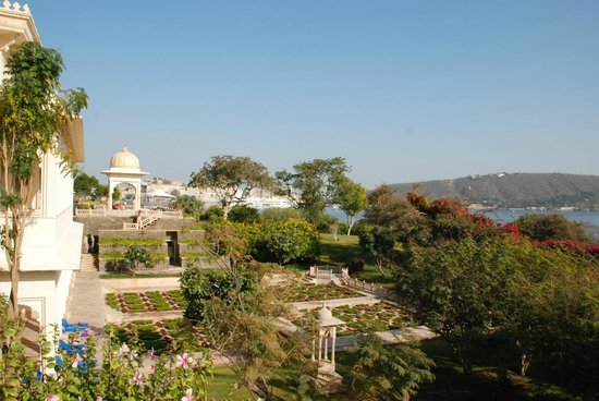 The Oberoi Udaivilas:                                     Outdoor pool spa and more gardens