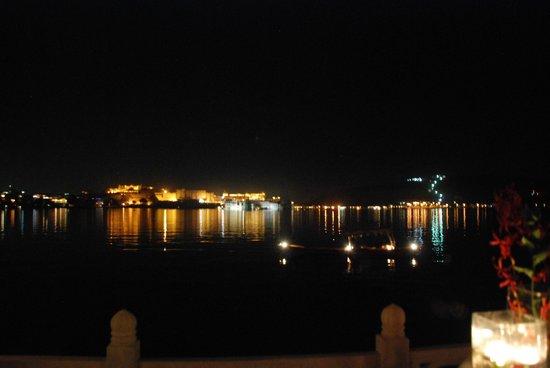 The Oberoi Udaivilas:                                     View from the La promenade outdoor restaurant