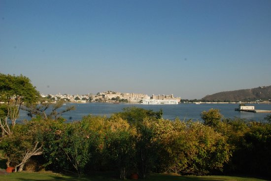 The Oberoi Udaivilas:                                     view from one of the garden