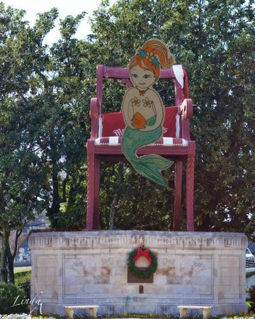 Thomasville, NC:                   Phlat Samantha traveled the world to sit in the big chair :)