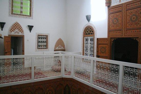 Riad Safir:                   chambres à l'étage
