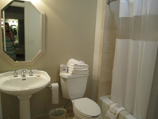The Paradise Inn: Clean and spacious bathroom