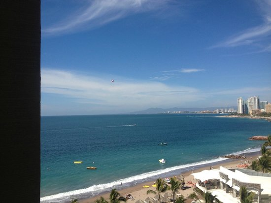 Now Amber Puerto Vallarta:                                     From our balcony. Secrets side. Preffered tower