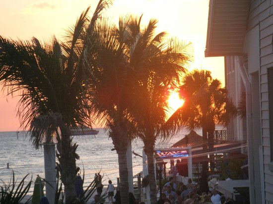 GulfView Hotel - On The Beach :                                     Sunset from the room