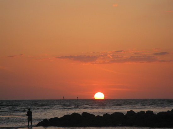 GulfView Hotel - On The Beach :                                     Sunset from the private beach