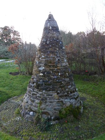 Newbold House:                                     Ancient monument in garden