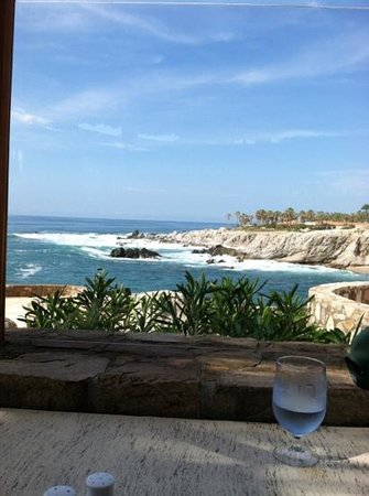 Esperanza - Auberge Resorts Collection:                                     view from restaurant during breakfast