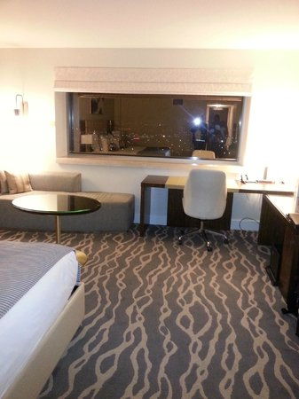 InterContinental Miami:                   A view of the sleeping area and window out to the waterfront