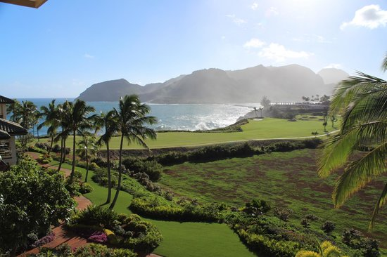Marriott's Kauai Lagoons - Kalanipu'u:                   Looking to the bay