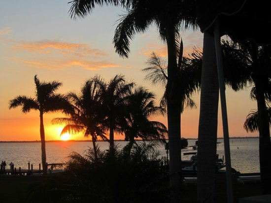 Tarpon Lodge & Restaurant:                   Sunset over Pine Island Sound