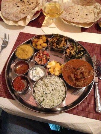 Rice & Spice:                   Lamb Thali