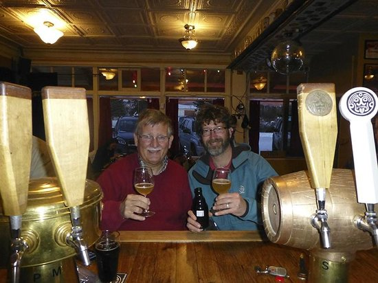 Dolores River Brewery: Sharing a beer with Mark the brewer.