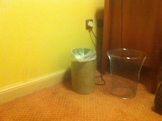 Westport Woods Hotel:                   dirty bin area in bedroom