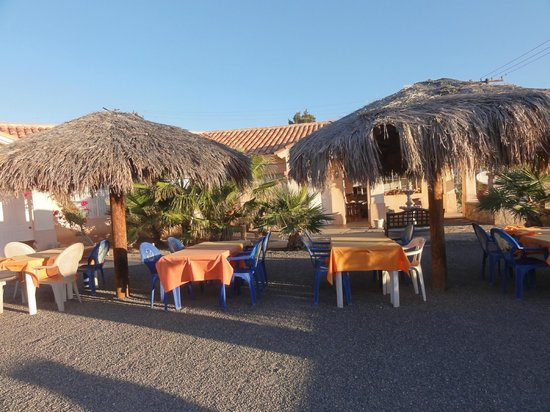 Costa del Sol Hotel:                   Outdoor dining and lounge area
