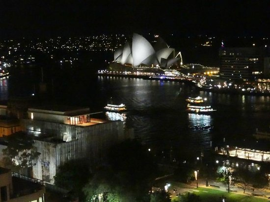 Four Seasons Hotel Sydney: Night view from room
