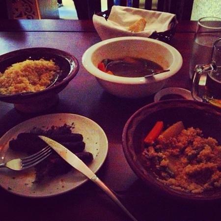Bahdja Restaurant:                   couscous merguez