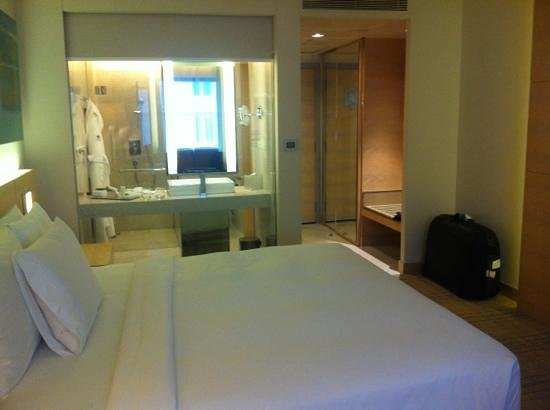 DoubleTree by Hilton Kuala Lumpur: room and view to bath room
