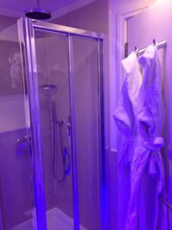 Pestana Chelsea Bridge Hotel & Spa London:                   Shower and Robes