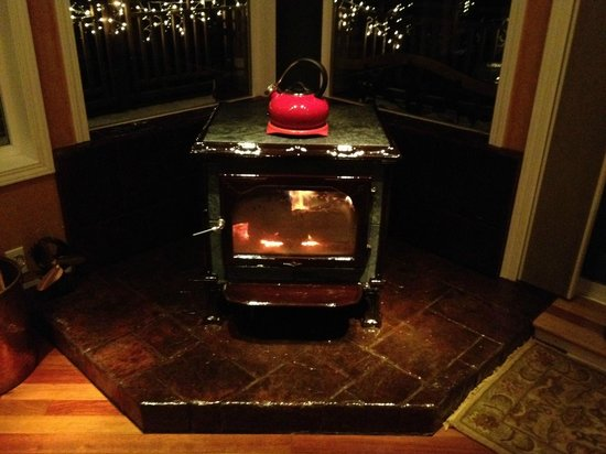 Alaska Sundance Retreat Bed and Breakfast, LLC: The New Wood Stove - COZY!