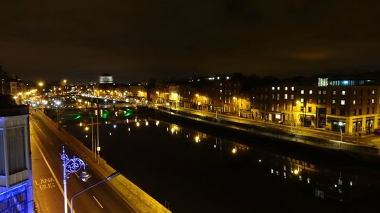 Eliza Lodge:                   View from my balcony of the River Liffey