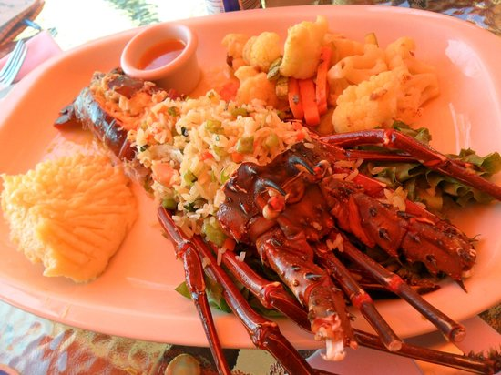 Vista Ballena Hotel:                   Fresh Lobster - our last lunch