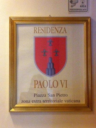 Residenza Paolo VI:                   Entrance